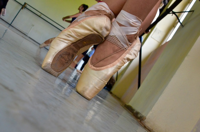 Pointe shoe closeup